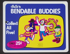 Jack's Bendable Buddies sign