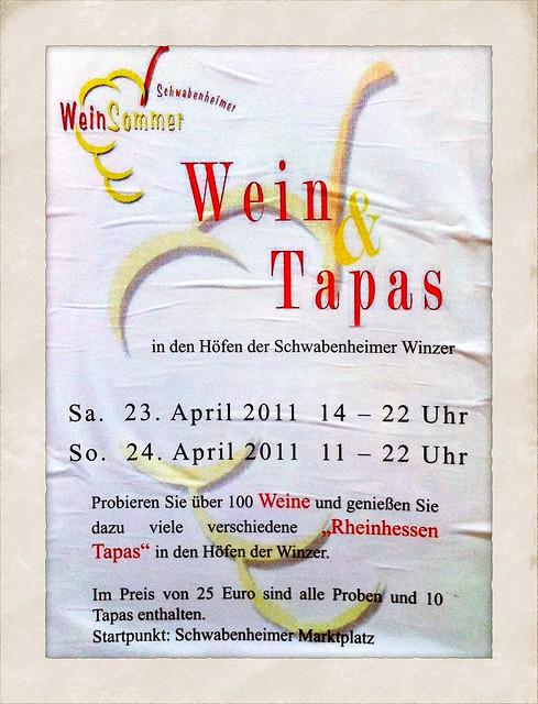 Schwabenheimer Weinsommer 2011: Wein & Tapas