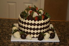 "Checker white and dark chocolate birthday cake • <a style=""font-size:0.8em;"" href=""http://www.flickr.com/photos/60584691@N02/5624944455/"" target=""_blank"">View on Flickr</a>"