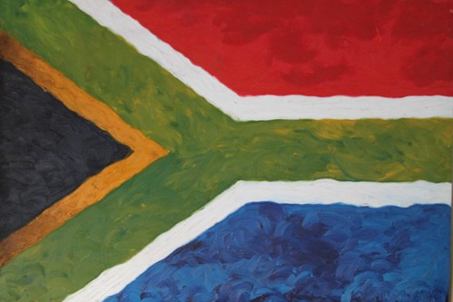 South Africa flag painting