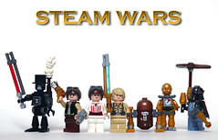 Steam Wars Characters (Oky - Space Ranger) Tags: star lego princess luke steam solo darth empire boba wars vader clone han droid leia skywalker steampunk fett
