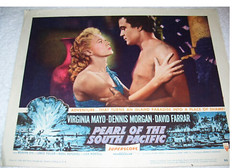 VIRGINIA MAYO 1955 PEARL OF THE SOUTH PACIFIC (addie65) Tags: hollywood hollywoodland lobbycard classicfilm fanphoto classichollywood dennismorgan virginiamayo davidferrar pearlofthesouthpacific deceasedactors