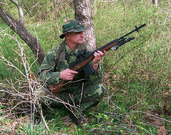 100_4320 (cowboy chris bbq) Tags: cute sexy hat usmc model marine gun photoshoot calendar boots modeling military rifle models columbia camo mo cap cover missouri blonde posters casual camoflage m14 booniehat cowboychrisbbq