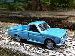 Pic 1: Datsun 1300 Pickup (Eastbtm - I am back online again ! :):)) Tags: scale pickup 1975 1967 limited edition 162 datsun madeinchina 1300 diecast tomica