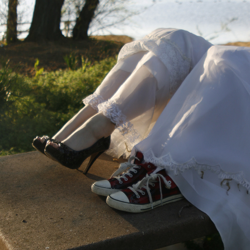 cddb15367854 sneakers and high heels (katt spurr) Tags  wedding portrait woman white  girl female outdoors