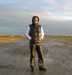 An der Nordseekste (Nordsee2011) Tags: nature leather outfit pants boots natur down clothes jeans jacket rubberboots gummistiefel lederhose kleidung stiefel daunenjacke lederkleidung lederjeans daunenweste