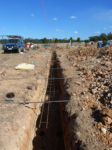 trench work and laying steel - 15