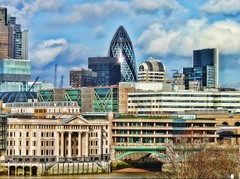 "The City of London . view of "" the Gherkin "" HDR"
