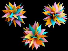 Conar 48 (Aneta_a) Tags: origami planar modularorigami octahedralsymmetry