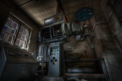 Movie meltdown (sj9966) Tags: old urban cinema abandoned hospital colours projector decay rotten lunatic asylum derelict derby hdr decayed kingsway decaying mental urbex