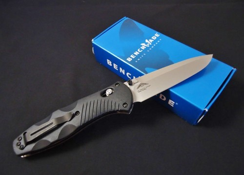 "Benchmade Barrage AXIS-Assisted 3.6"" Satin Plain Blade, Valox Handles"