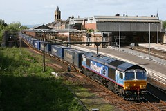 Stobart Rail 66414 on 4Z48 Inverness to Mossend (60044) Tags: station james engine rail db tesco 66 class container perth express eddie services direct inverness dbs the schenker intermodal drs stobart 66414 mossend 4z48