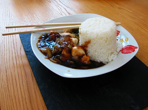 Teriyaki Chicken and chopsticks