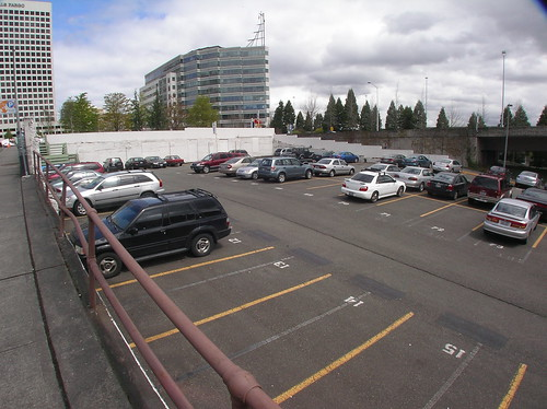 Davita's Backyard Half Empty or Half Full Diamond Paid Parking Lot