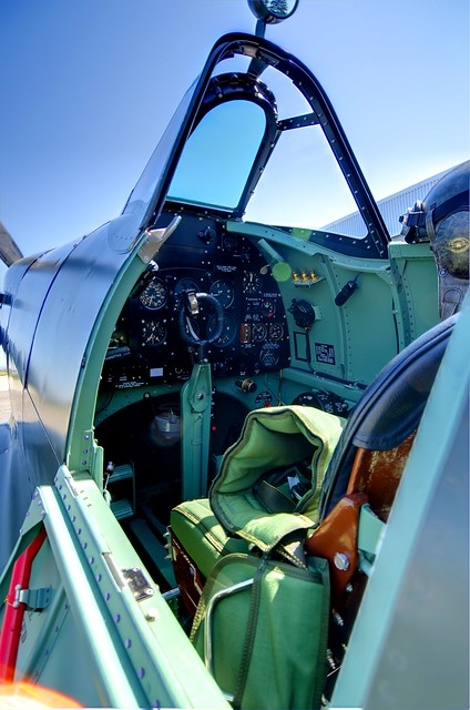 Supermarine Spitfire WWII Cockpit