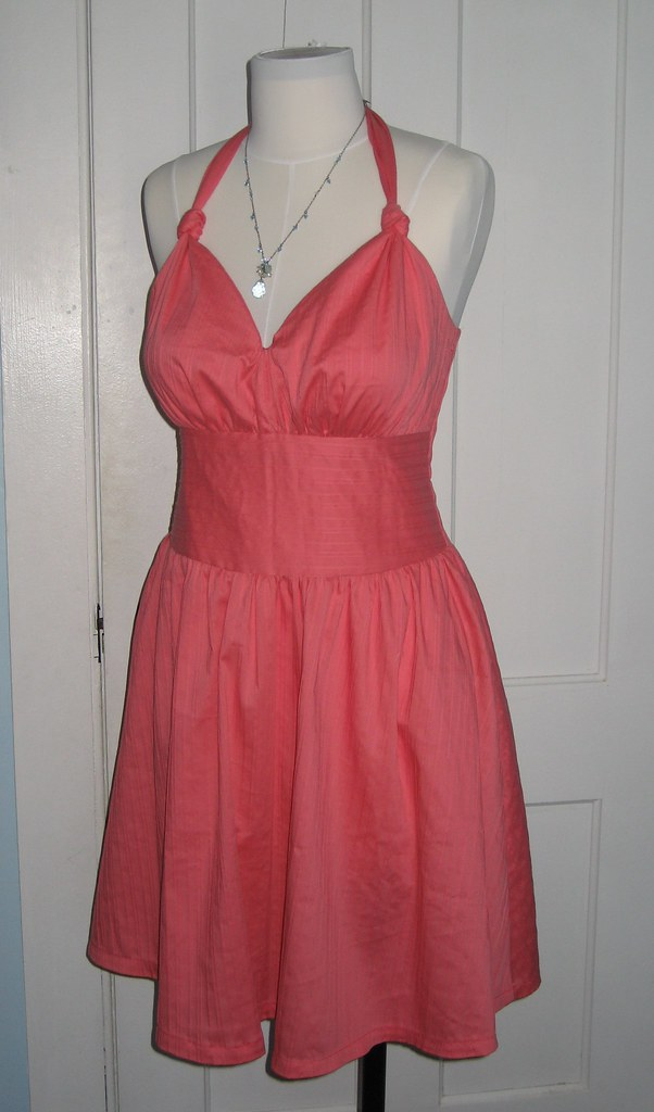 Salmon Halter Dress