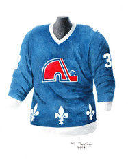 Quebec Nordiques 1981-82 jersey artwork (Scott Sillcox) Tags: art heritage history hockey vintage nhl artwork uniform jersey collectible throwback coloradoavalanche quebecnordiques originalsportsart