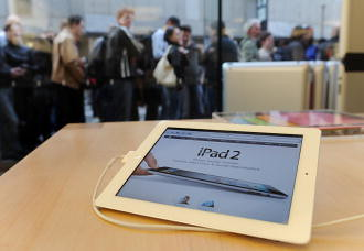 GERMANY-IT-COMPANY-APPLE-IPAD