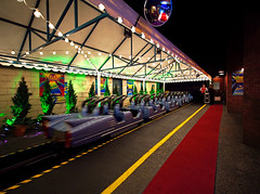 Perhaps the Coolest Roller Coaster Unload Area in the World (Express Monorail) Tags: travel vacation music usa colors rock america dark orlando nikon florida availablelight vivid disney limo stretch motionblur theme rollercoaster difficult orangecounty wdw waltdisneyworld mgm dhs kissimmee limousine themepark attraction redcarpet sunsetboulevard unload lakebuenavista ultrawideangle baylake reedycreek disneypictures disneyparks expressmonorail disneyphotos d3s disneyshollywoodstudios nikkor1424mmf28 rocknrollercoasterstarringaerosmith eticketattraction joepenniston disneyphotography disneyimages