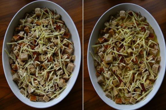 swiss chard tomato spinach asiago strata 005