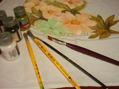 material usado na técnica (helena rosali) Tags: em pap pintura tecido