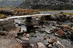 Slate Bridge (Peter-snottycat) Tags: bridge wales river slate cwmorthin