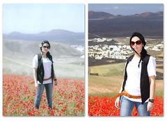 Zenit2 (Efrilla) Tags: flores color canon rojo chica lanzarote canarias nia zenit montaa helios yaiza amapolas