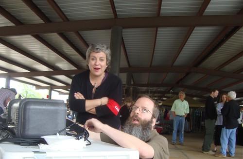 April Dahm, Kern Courtney: Texas Ave Maker's Fair, Spring 2011 by trudeau