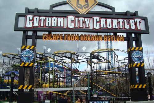 new roller coaster at six flags new england 2011. Six Flags New England Apr. 2011. Gotham City Gauntlet.