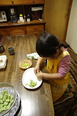 Preparation for supper  -Helping Mom (Cozy66) Tags: girl japan child pentax  k5