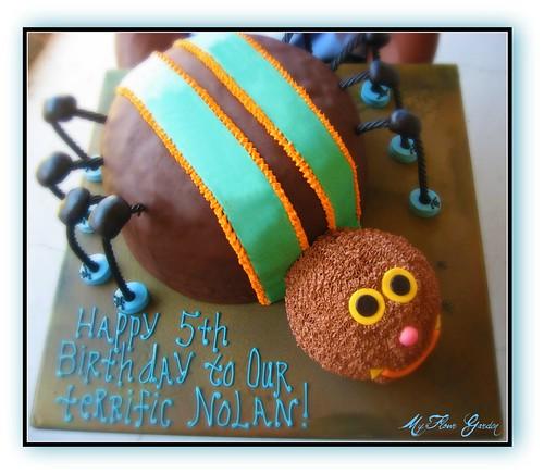 5th Birthday Boy ~ Spider Cake