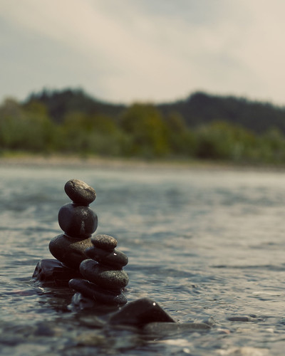 Rock Stacks- Mad River by Becky Simmons