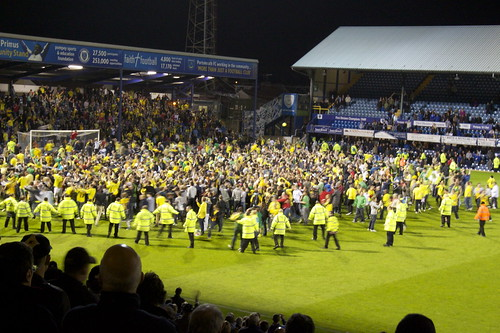Pitch Invasion! Starring the fans of Norwich City