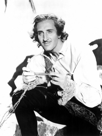 Basil Rathbone as LeVasseur in Captain Blood