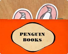 Penguin books logo (Memi The Rainbow) Tags: cute logo reading penguin book carved hand stamps rubber stamp read kawaii bookmark zakka memi