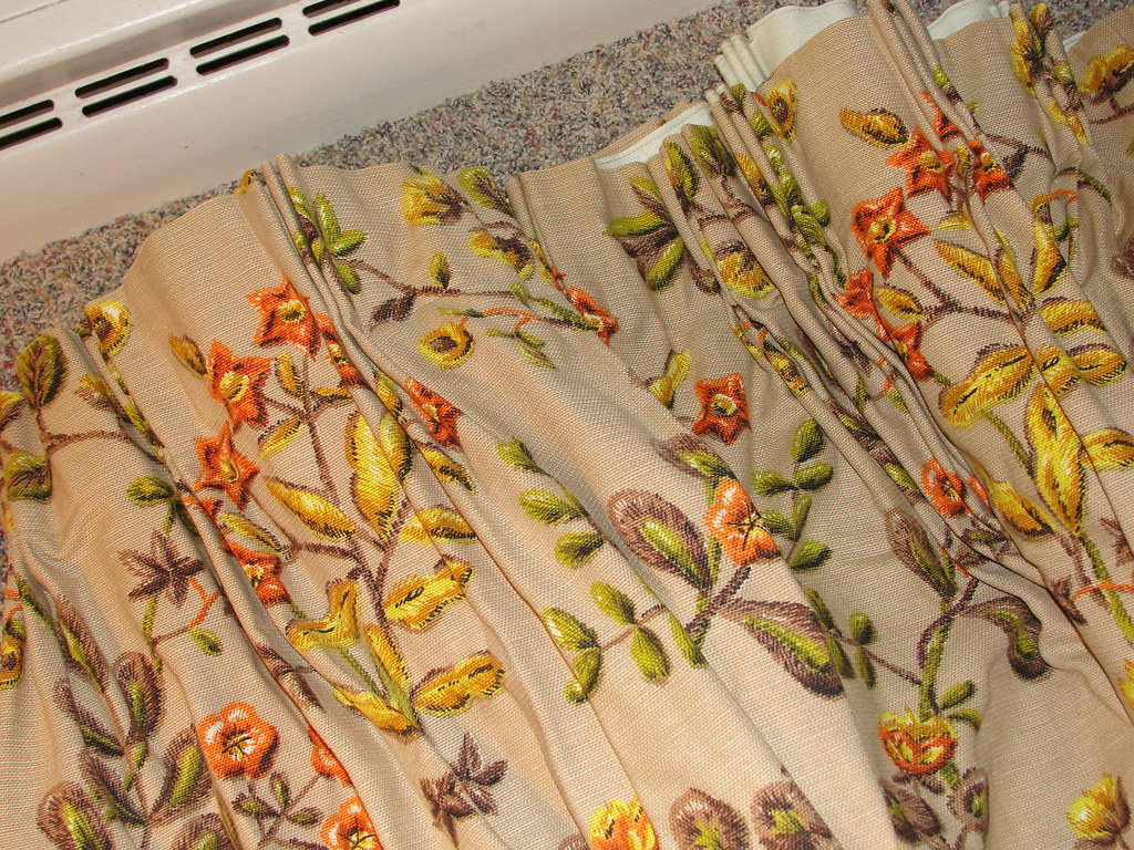 Pinch pleat drapes