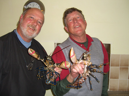 Jeff, Paul and two lobsters