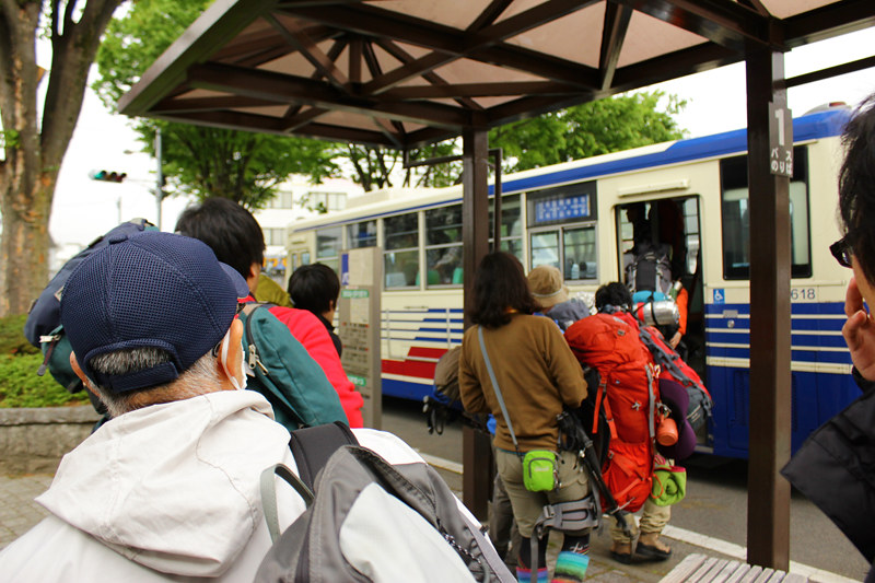 西沢渓谷行きバス