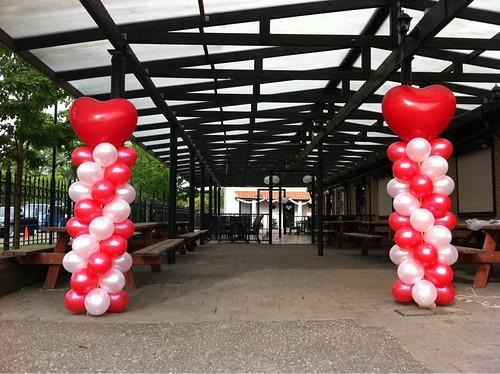 Ballonpilaar Breed Hart Camping de Zoom Bergen op Zoom