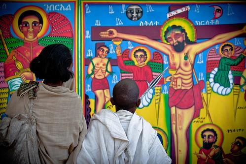 festival Hosanna (Palm Sunday)  in Axum. etiopia by ronnyreportage