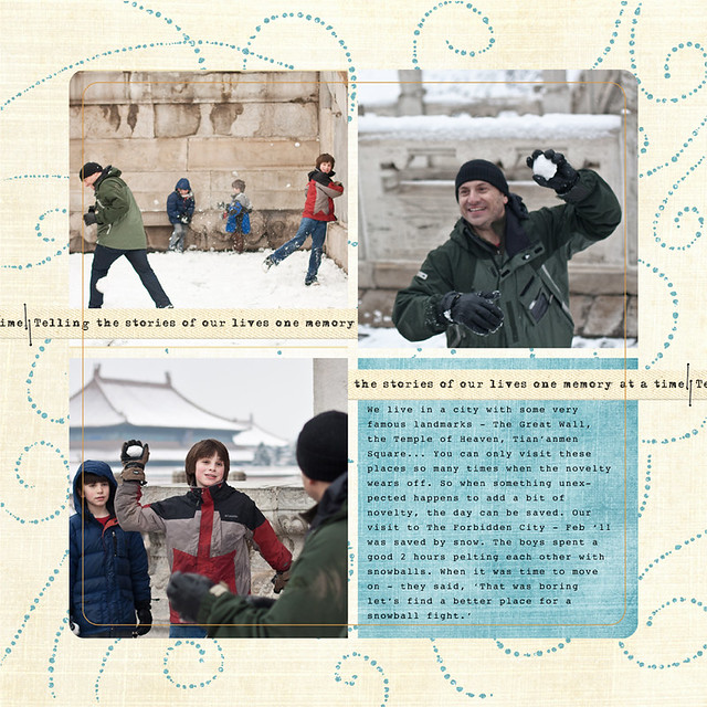 Day 16 - Snowball Fight at the Forbidden City