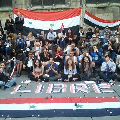 Paris Demo in Support of the Syrian People