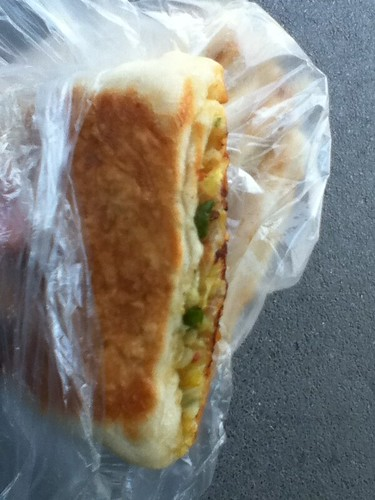 2011-04-30 - Street snack - Fried vegetable jian bing