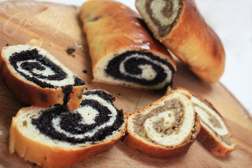 Poppy Seed and Walnut Rolls