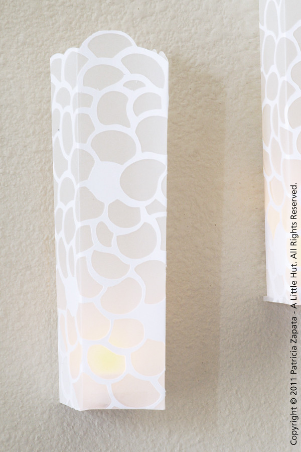 day 24 - paper sconce tutorial