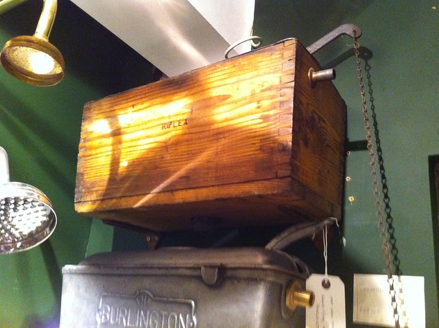 Lassco vintage cistern wooden