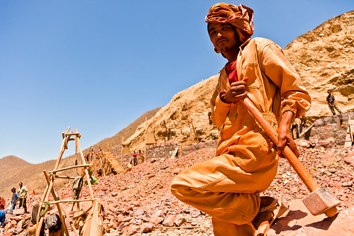 road construction worker from axum to debark.ethiopia by ronnyreportage