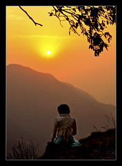 i'll be waiting for you...in hope... (PNike (Prashanth Naik)) Tags: sunset woman india silhouette lady hope nikon waiting hills himalayas mussoorie mointain yellowsky edgeofthecliff uttarakhan d7000 waitinginhope shiwalikrange pnike