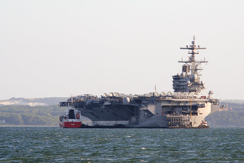 USS George HW Bush Visits Stokes Bay, Gosport