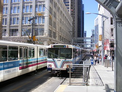 7th Avenue LRVs (Sean_Marshall) Tags: calgary downtown alberta transit lrt citycentre ctrain 7thavenue